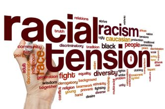44413831 - racial tension concept word cloud background